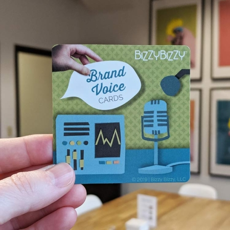 Tangible Brand Voice or Brand Personality Cards