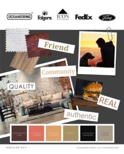 Regular Person Brand Archetype Moodboard