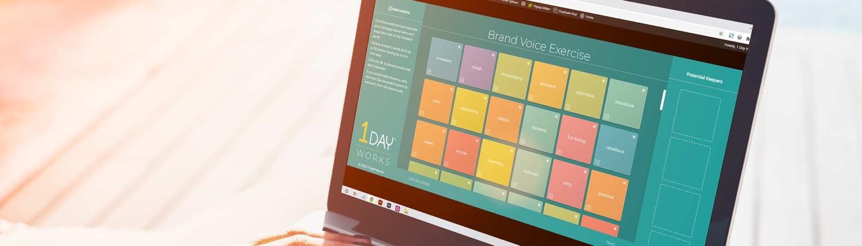 Interactive Brand Voice Exercise App