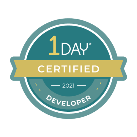 1 Day Website Developer Certification logo